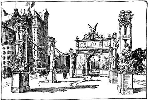 triumphal arch   york city clipart