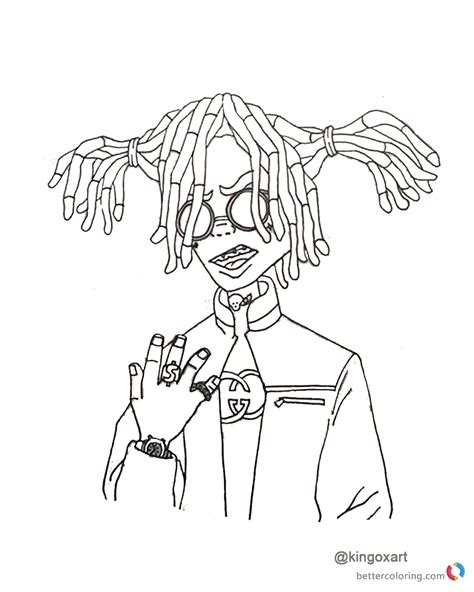 lil pump coloring pages Lil Pump Color Page Poster lil pump coloring pages