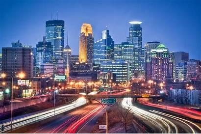 Skylines States United Minneapolis Cities American
