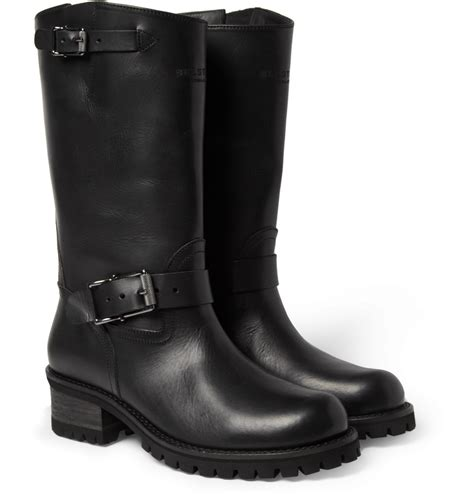 biker boots for lyst belstaff fulham leather biker boots in black for