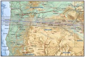 Eclipse 2017 Oregon Map