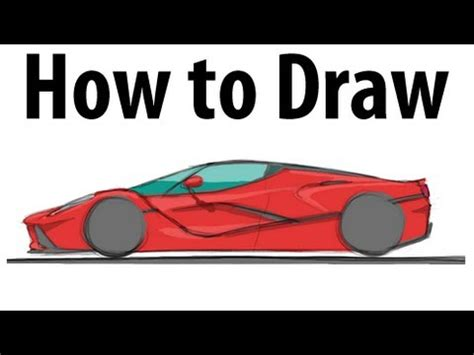 How To Draw A Ferrari Laferrari  Sketch It Quick! Youtube