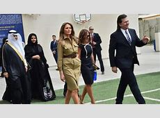 Ivanka and Melania's outfits cause a stir in Saudi Arabia