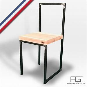 Chaise En Acier : chaise vales en acier brut et bois massif agtrema ~ Teatrodelosmanantiales.com Idées de Décoration