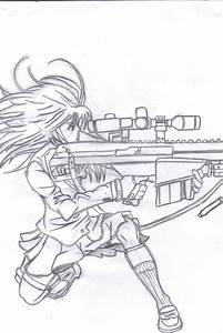 anime gun girl by casperdun on DeviantArt