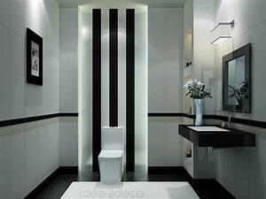 emejing decoration salle de bain noir et blanc images With salle de bain noir et blanc design