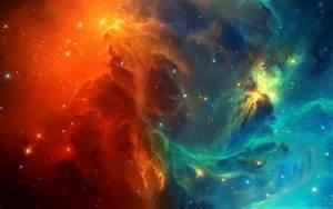 Orange & Blue Space - Wallpaper #38905