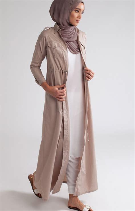 shirted kimono nude poplin hijab fashionstyles