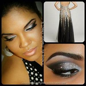Camille La Vie Silver Black Prom Dress Inspired Makeup