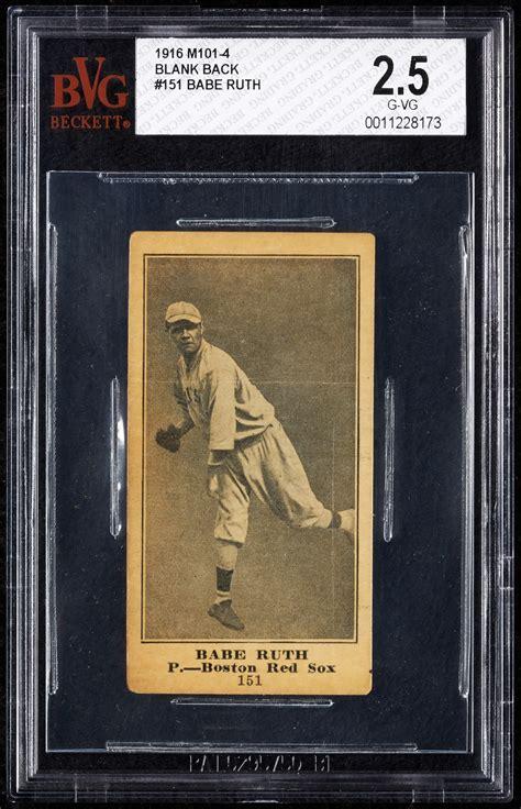 babe ruth baseball card    piano  sell     auction artnet news