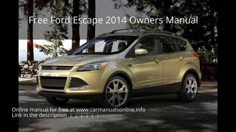 ford escape owners manual youtube