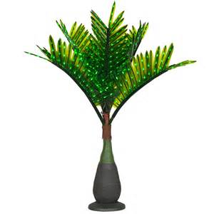 lighted palm trees 7 5 39 led bottle palm tree green
