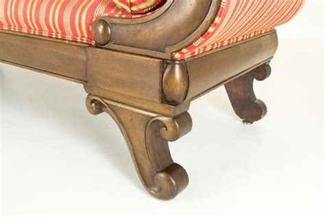 Antique Carved Mahogany Fancy Arm Antique Mahogany Scroll Arm Sofa Or Settee For