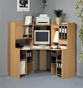 Meuble Ordinateur Salon : un bureau informatique d 39 angle quel bureau choisir pour votre petit office ~ Medecine-chirurgie-esthetiques.com Avis de Voitures