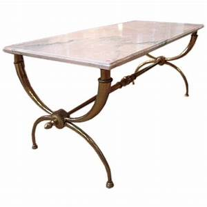 bronze coffee table with pink marble top at 1stdibs With pink marble coffee table