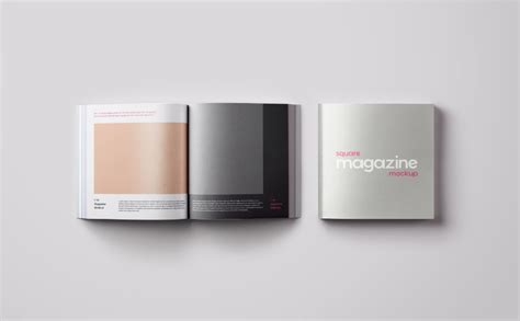 Discover the best free photoshop mockups available. Free Square Magazine Mockup (PSD) | Zeitschriften
