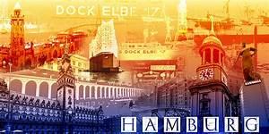 Online Shop Hamburg : hamburg collage quer regenbogen fritzart online shop ~ Markanthonyermac.com Haus und Dekorationen