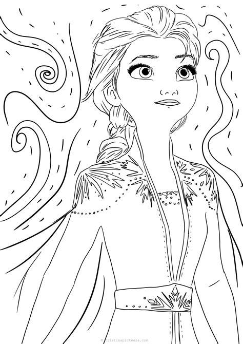 coloring pages  elsa  white dress frozen