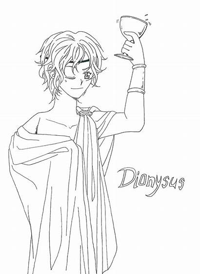 Dionysus Greek Coloring Gods Drawing Pages Myth