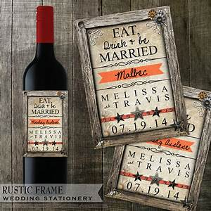 rustic wedding wine bottle labels avery labels With avery wine labels 15516
