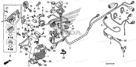 Honda Scooter Oem Parts Diagram For Wire Harness