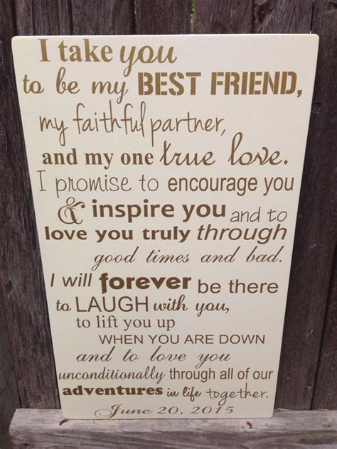 anniversary gift   wedding vows sign st etsy