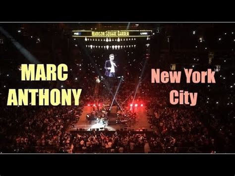 marc anthony square garden marc anthony live in concert at square garden in