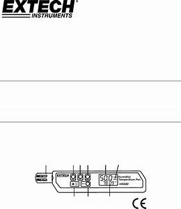 Extech Instruments Thermometer 445580 User Guide