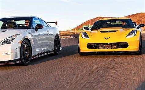 Nissan Gtr Vs Corvette by 2015 Corvette Z06 And Nissan Gt R Nismo Square Vettetv