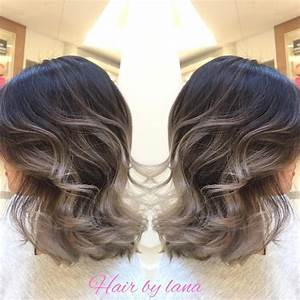 Here again grey ombre work with short hair natural for Hair color letters