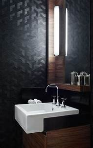 Papier Peint Pour Salle De Bain : relooker une salle de bain 42 id es en photos ~ Dailycaller-alerts.com Idées de Décoration