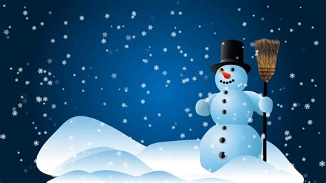 Animated Snowman Wallpaper - snowman animated background loop motion