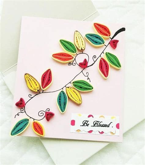 handmade happy thanksgiving quilled greeting card
