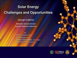 Ppt - Solar Energy Challenges And Opportunities Powerpoint Presentation