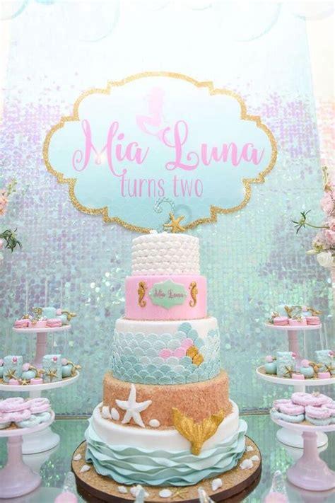 kara 39 s party ideas littlest mermaid 1st birthday party cake from a mermaid oasis themed birthday party via kara 39 s