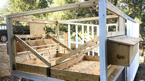 building  chicken coop part  youtube