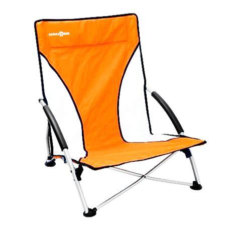 chaise basse de plage chaise de plage basse cuba orange brunner idéale pour