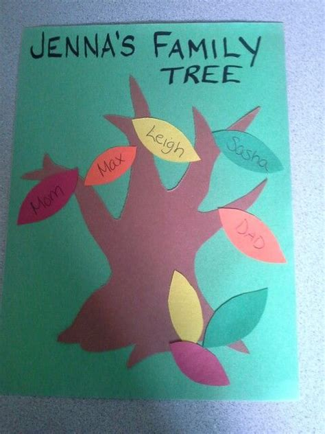 preschool family tree craft i would also do prints 393 | 69618a730e5ce645e00d1744698771f2