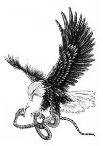 Eagle Holding Snake Tattoo
