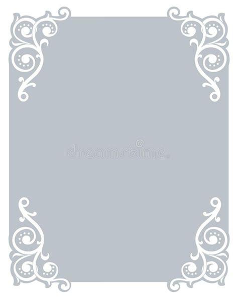 invitation border frame vector illustration