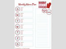 20 Free Menu Planner Printables Fab N' Free