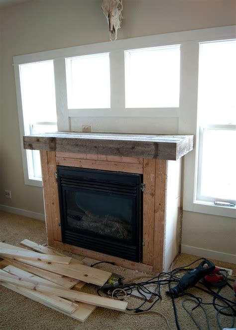 Diy Wood Mantel Fireplace Trgn E92c9cbf2521