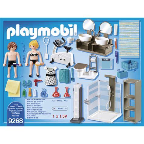 salle de bains avec douche italienne playmobil  blokker