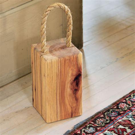 door stopper ideas all gifts recycled wood doorstop