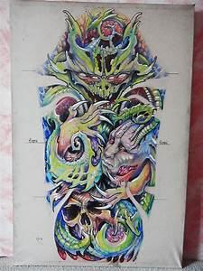 an organic horror sketch by designer xenija