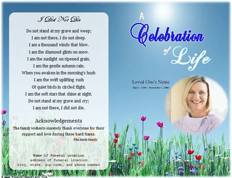 free funeral program template microsoft publisher 64 best memorial legacy program templates images on