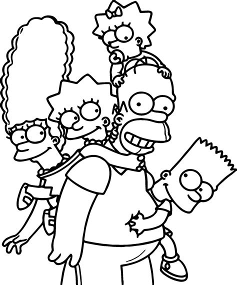 cool  simpsons wallpaper full hd coloring page