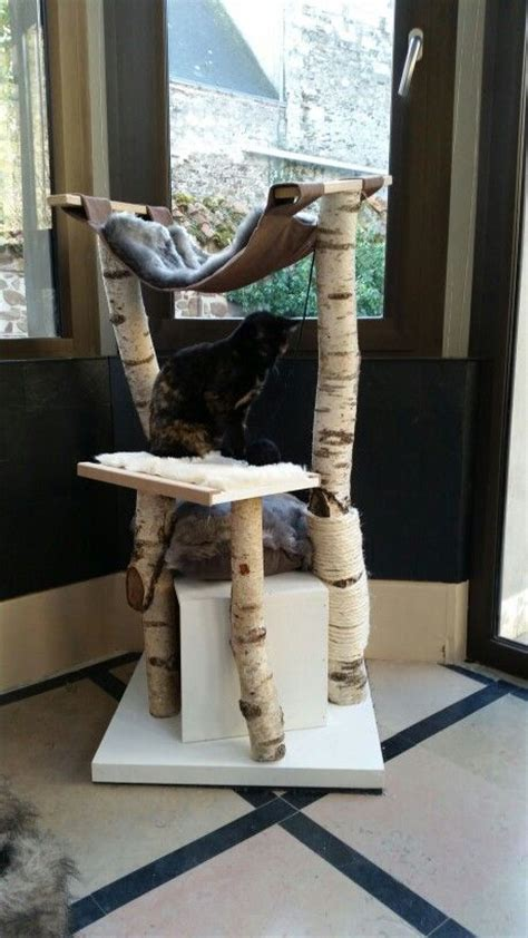 arbre a chat maison arbre a chat fait maison en bouleau et mdf brico