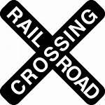 Icon Crossing Rail Road Signal Cross Icons