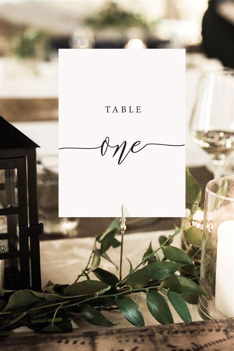 rustic elegance table numbers diy printable wedding